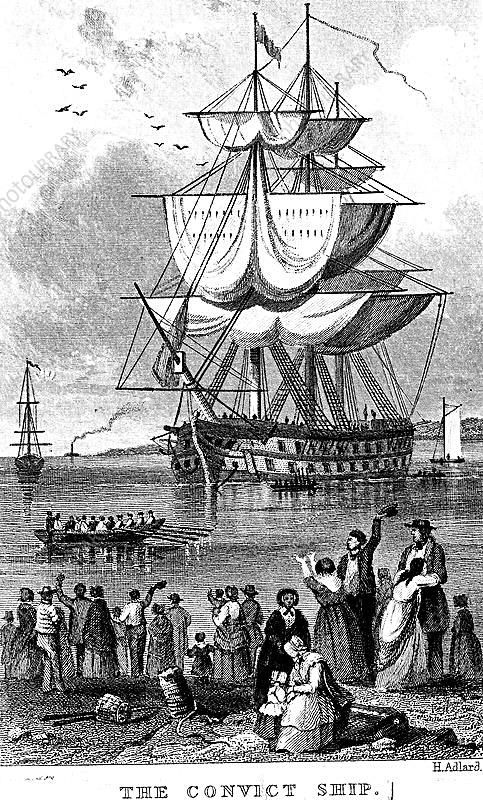 The Convict Ship', c1820
